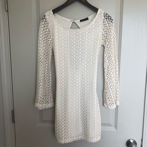 Dresses & Skirts - KLD signature cream knit dress size XS!